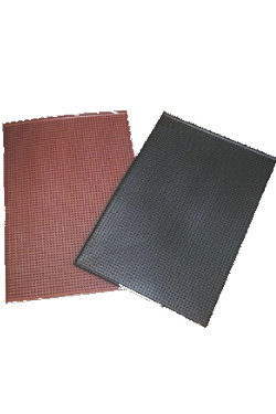 "Rubber Service Area Mat.  12""x18""x1/2"" -BROWN"