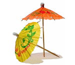 Drink Umbrellas,  Parasol Picks Assorted Colors. Restaurant supplies