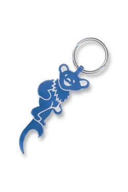 bottle opener, key chain dancing bear
