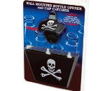Black Skull Wall Mount Opener W/ Aluminum Cap Catcher