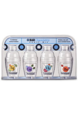 Bar Chemistry mini cocktail shaker 4 pack